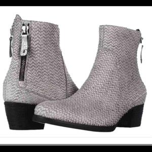 Paul Green 'Dory' Snake Textured Leather Booties